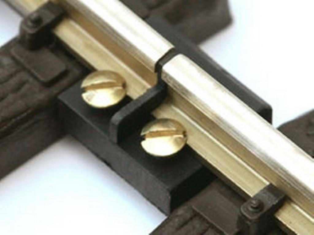Neuware 1St.=1,40€ Massoth Schraub-Schienenverbinder 19 mm vernickelt 50 Stück